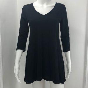 NWT Organic Cotton INDIGENOUS black tunic top XS